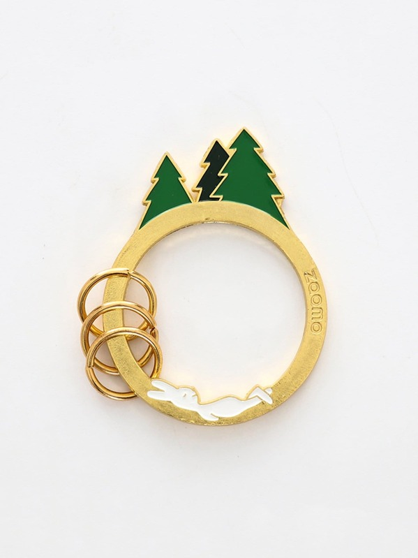 0491ce4157 Tree Detail Ring Keychain | SHEIN