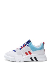Striped Detail Lace Up Trainers