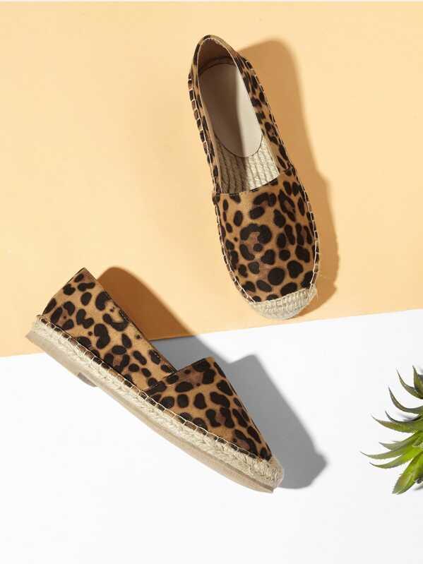 23ee0f50f24 Leopard Print Espadrille Flats