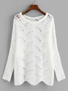 Loose Knit Drop Shoulder Sweater