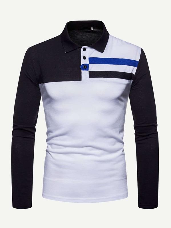 f19657d313 Cheap Men Cut And Sew Panel Polo Shirt for sale Australia | SHEIN