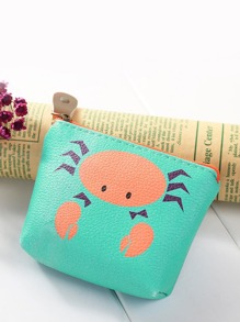 Crab Print Coin Purse