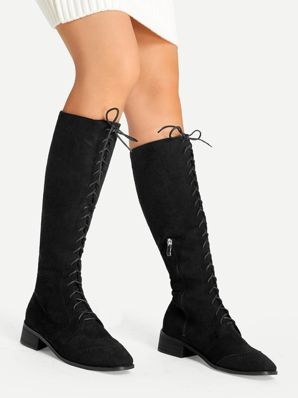 14728531e7018 Cheap Lace-Up Knee Boots for sale Australia | SHEIN