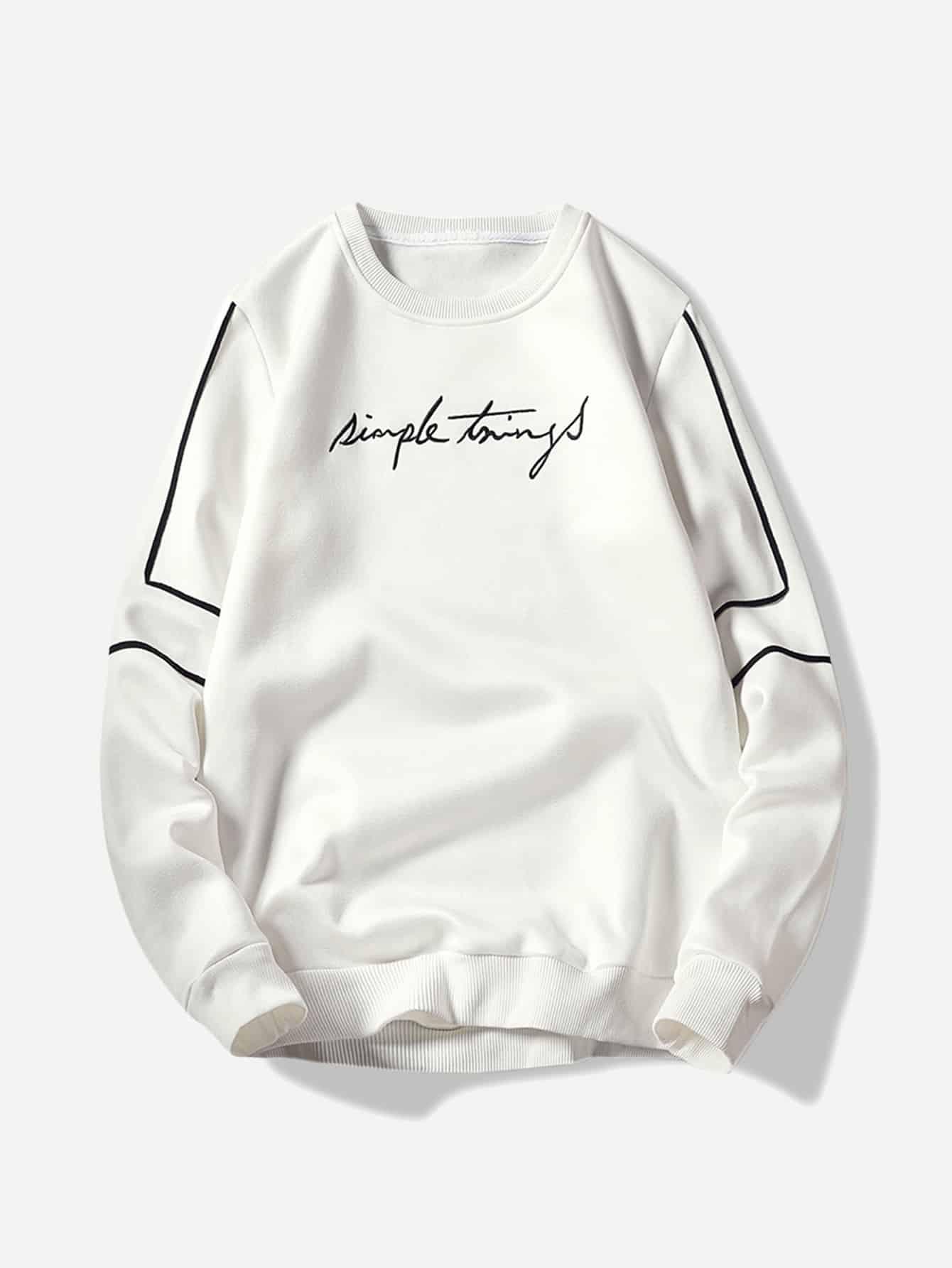 Men Embroidery Sweatshirt Men Embroidery Sweatshirt