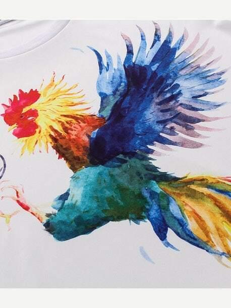 Homme Poulet Imprimé Tee Shirt Shirt Homme Tee CeBdxWQro