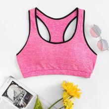 INOpets.com Anything for Pets Parents & Their Pets Contrast Trim Racer Back Sports Bra