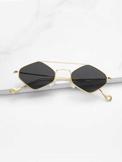 Double Bridge Diamond Sunglasses