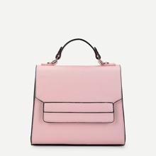 SHEIN | Flap PU Satchel Bag | Goxip