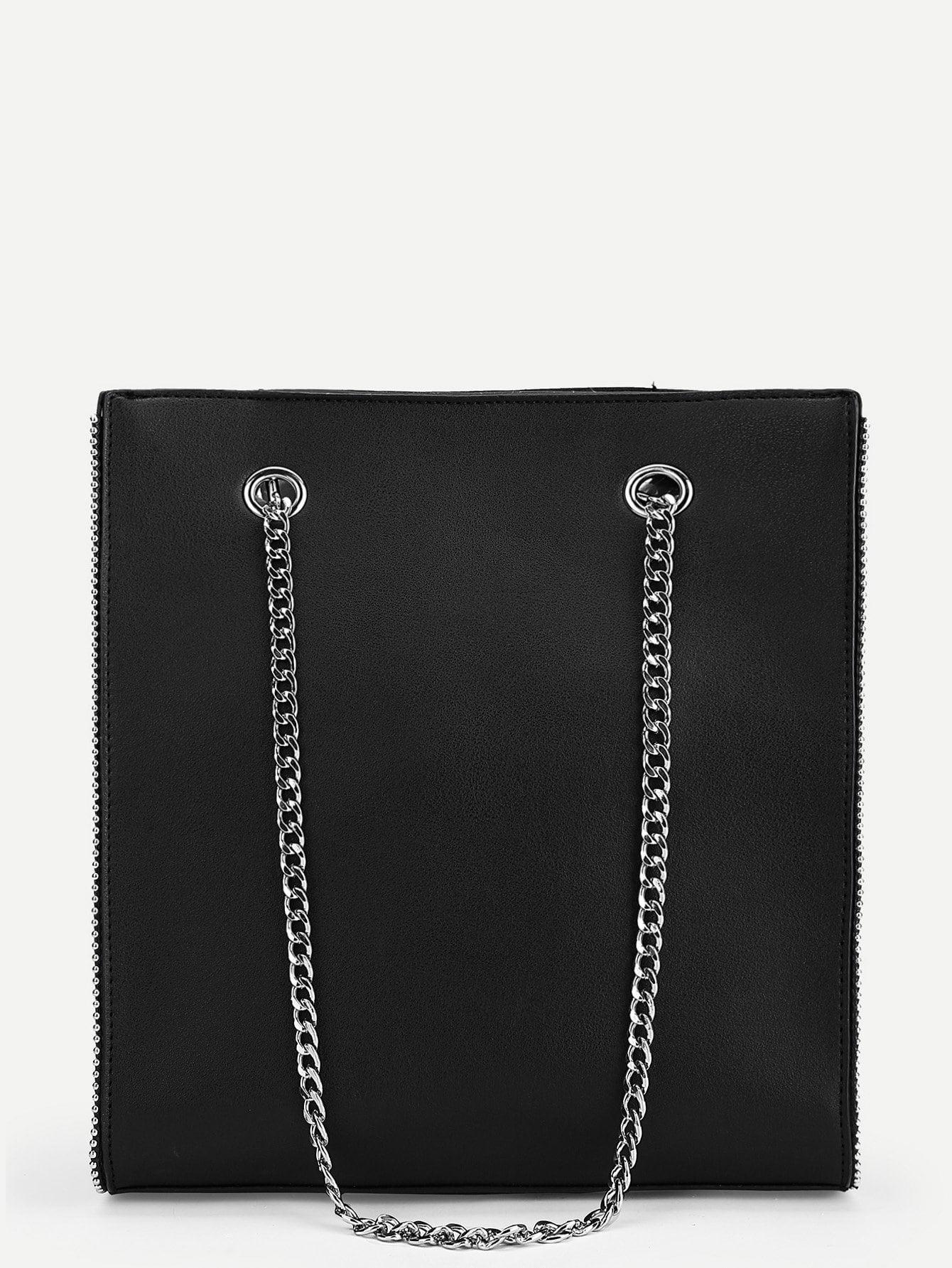 Metal Ball Trim Chain Bag