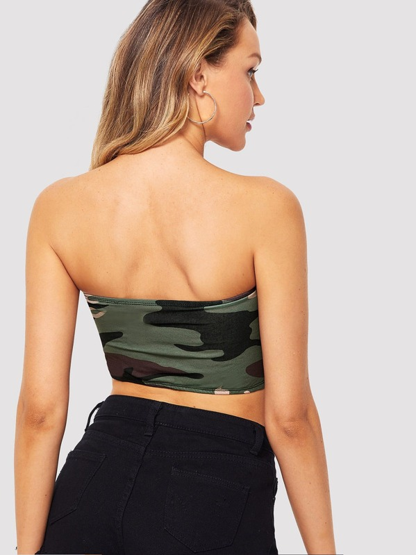 bf75b065ad5 Camouflage Bandeau Bralette