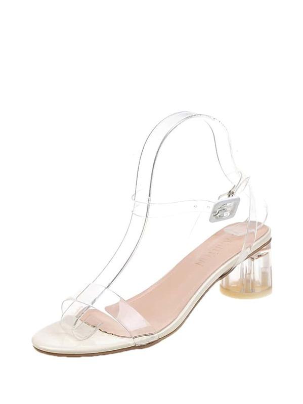 cf874f85ee Ankle Strap Clear Heels | SHEIN
