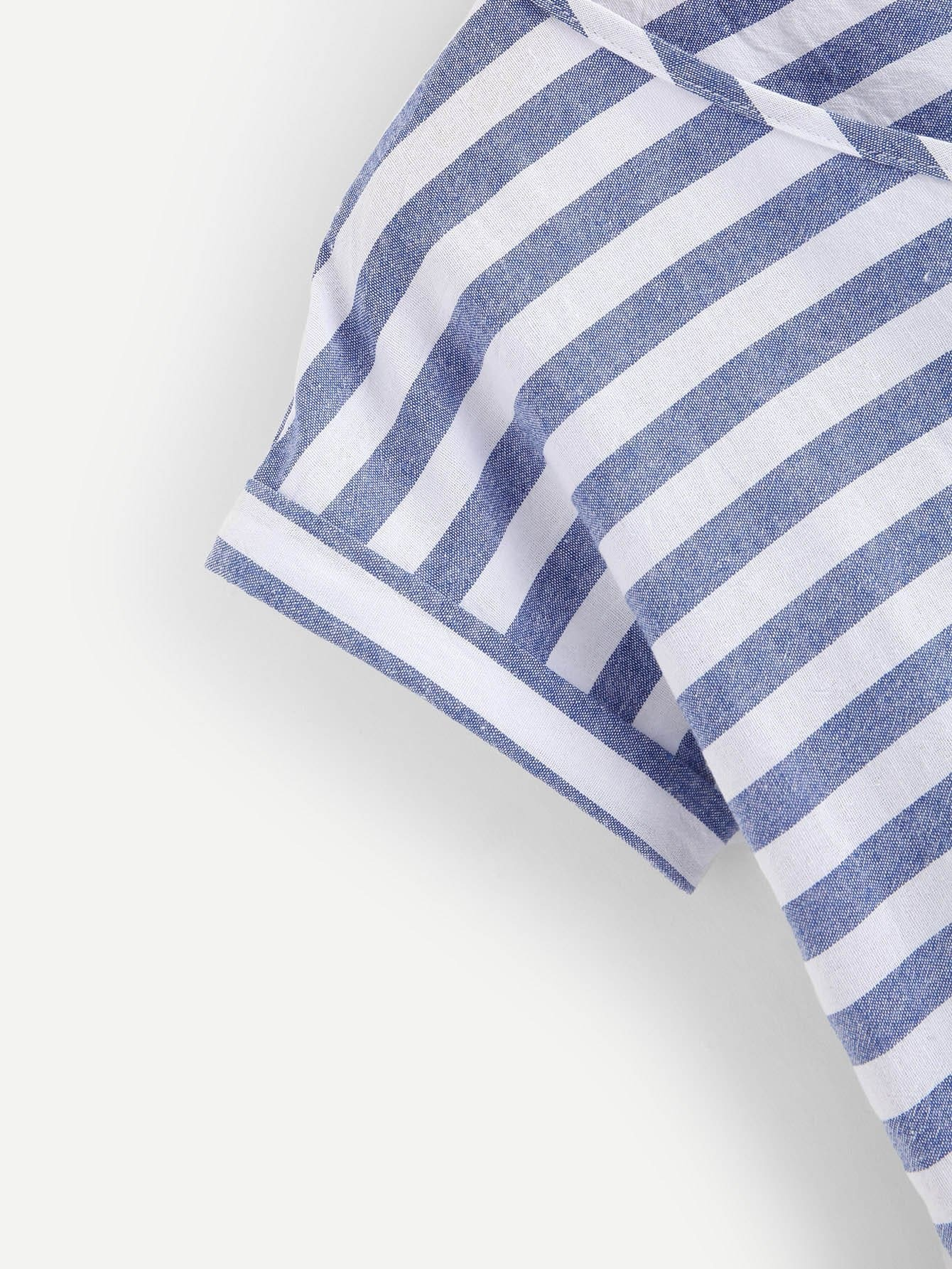 bergro e bluse mit fransen und streifen german romwe. Black Bedroom Furniture Sets. Home Design Ideas