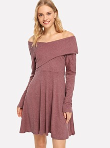 Off The Shoulder Wrap Dress