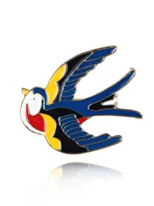 Swallow Shaped Brooch