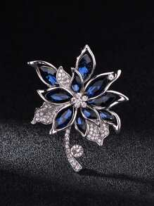 Gemstone Flower Shaped Brooch