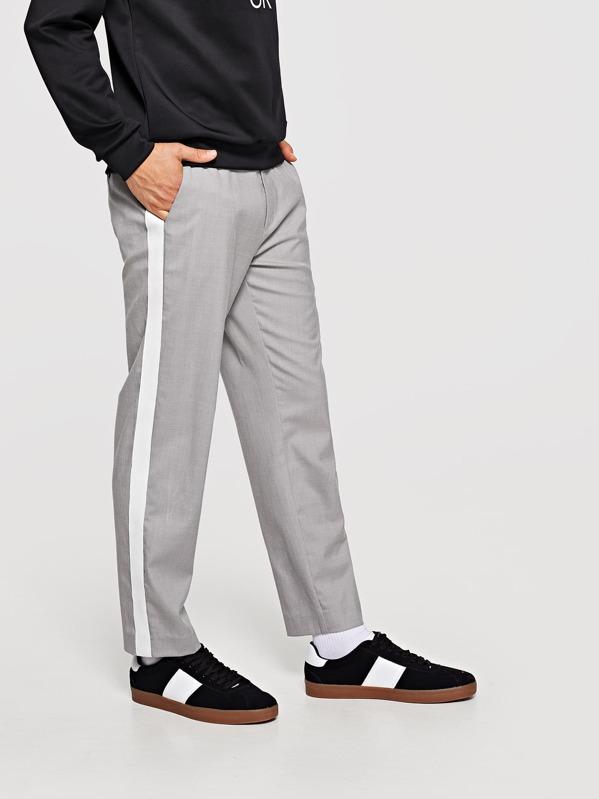 ea46e7f64e Men Slant Pocket Striped Pants | SHEIN IN