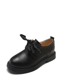 Lace Up PU Oxfords With Replaceable Laces