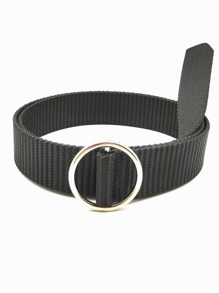 Round Metal Buckle Belt