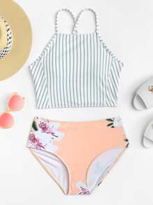 Mix And Match Criss Cross Bikini Set