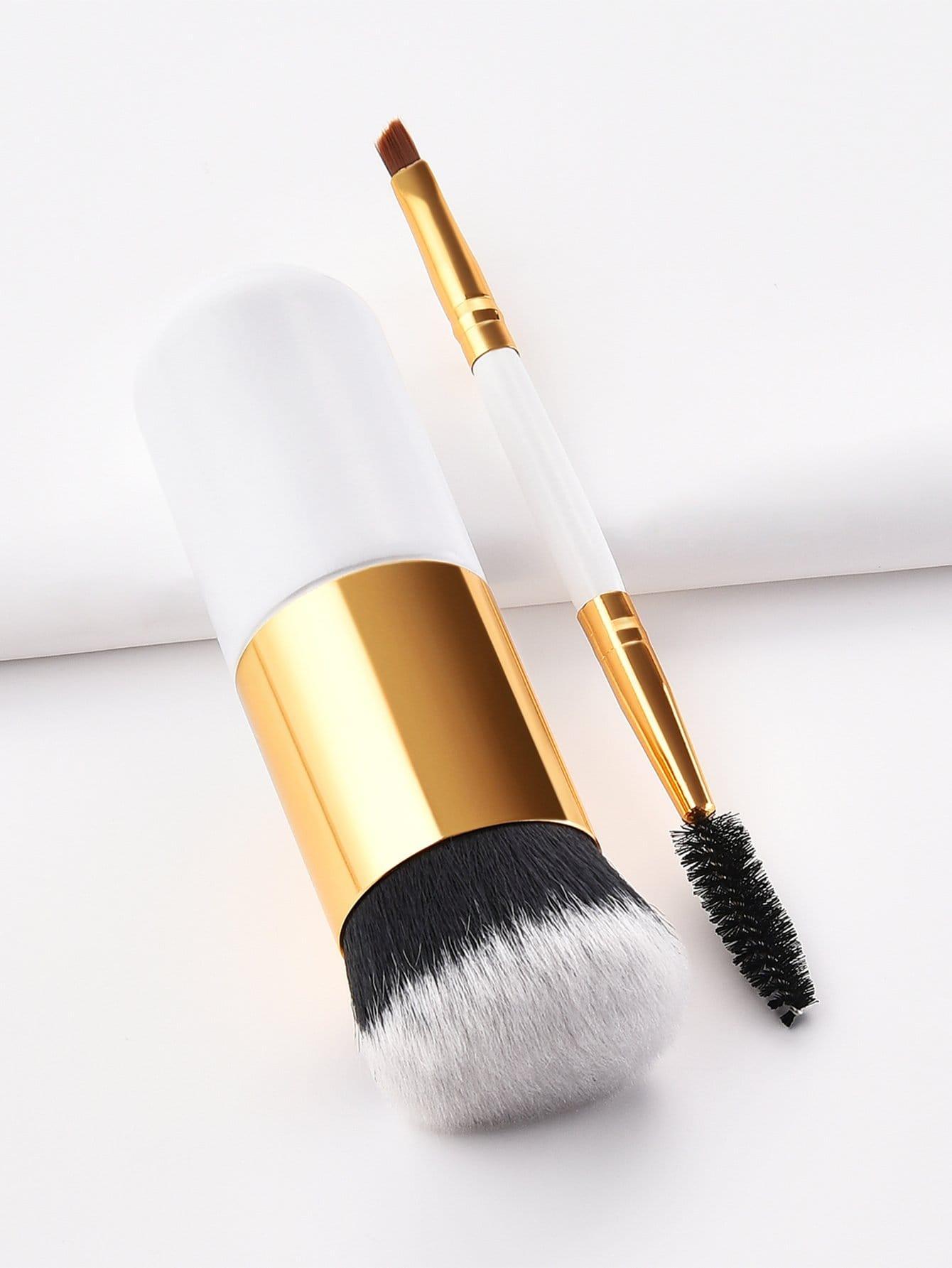 Two Head Eye Brush and Chunky Brush Set 2pcs