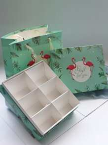 Packing Box 2pcs With 1 pc Tote Paper Bag