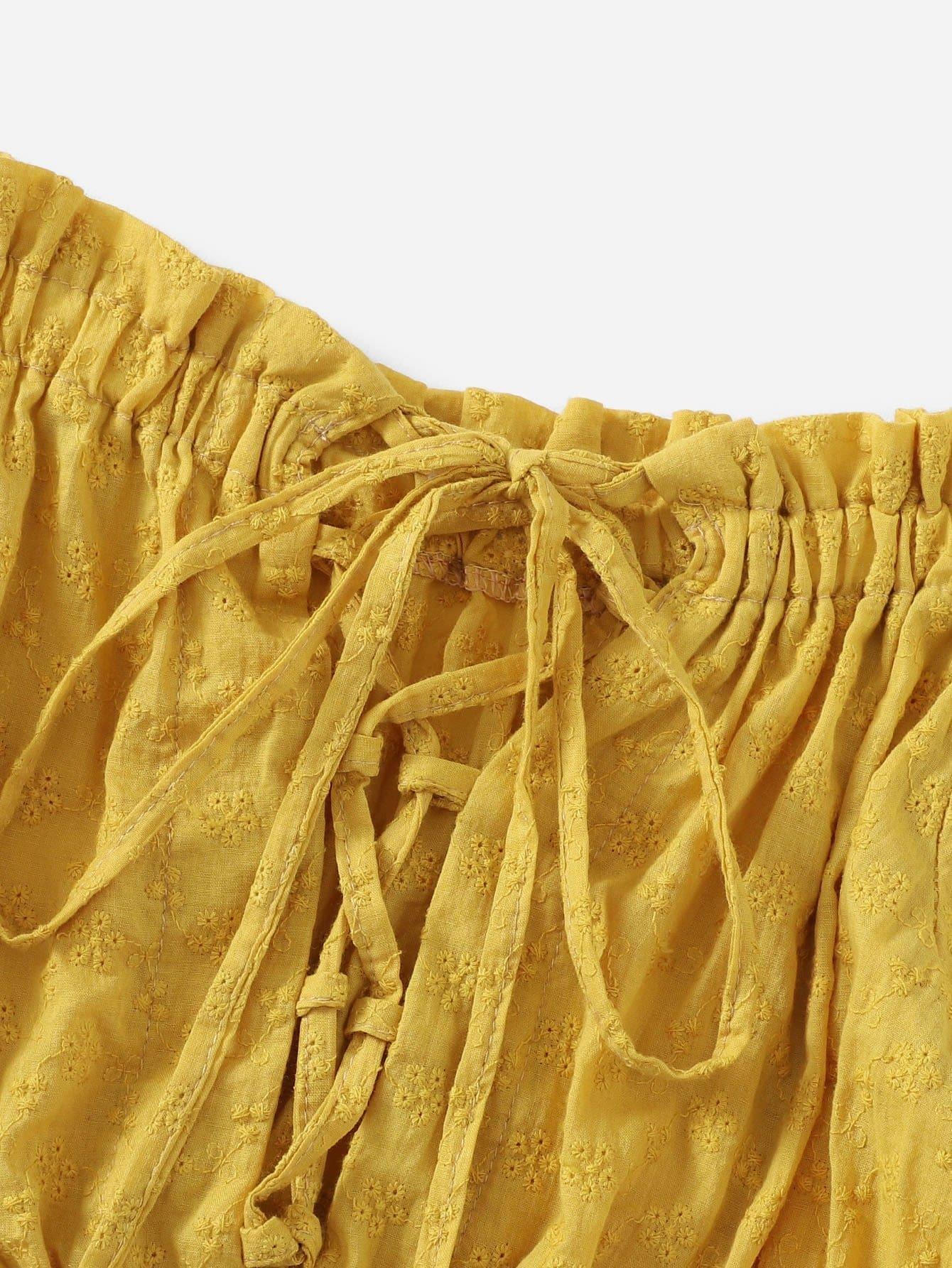 schulterfreie bluse mit falten und band german romwe. Black Bedroom Furniture Sets. Home Design Ideas