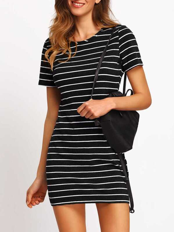 ad5744371bcc Striped Fitted Tee Dress