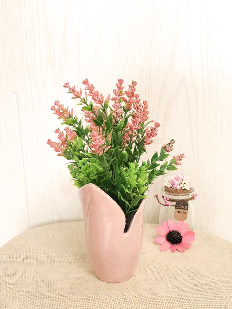 & 2 In 1 Artificial Potted Flower   ROMWE