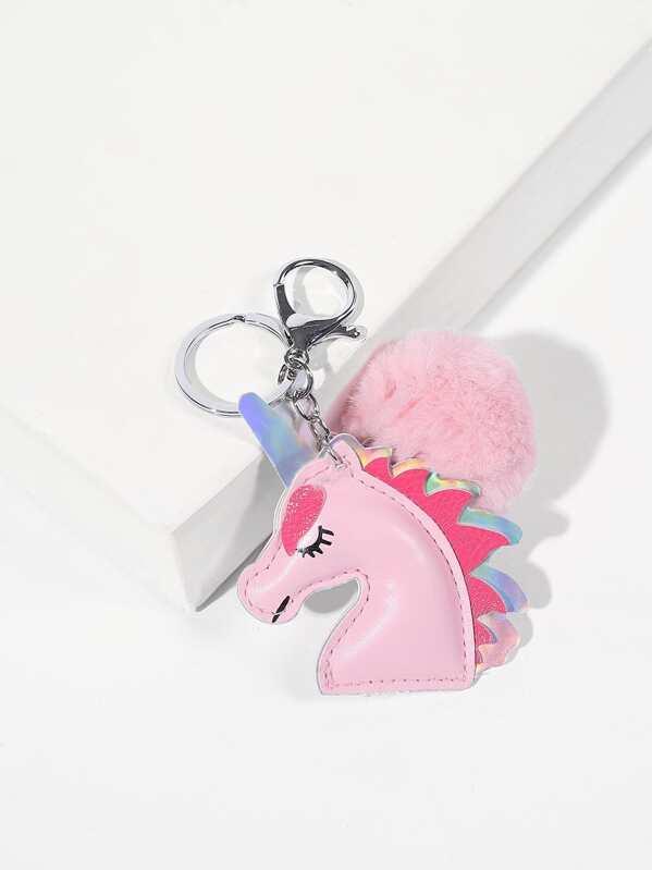 5b24d10d57 Pom Pom Detail Unicorn Shaped Bag Accessory | SHEIN IN
