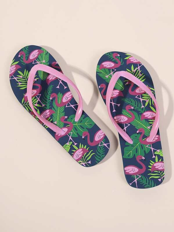 e0f979958 Cheap Flamingo Print Toe Post Flip Flops for sale Australia