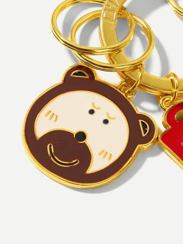 4cbfaddfe0 Metal Bear Decorated Ring Keychain | SHEIN