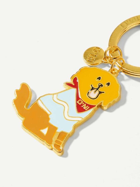 7f472ed31f Dog & Disc Decorated Ring Keychain | SHEIN