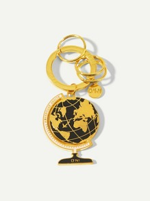 Metal Globe Ring Keychain