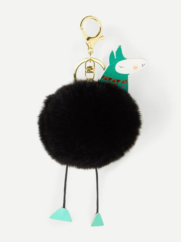 ca8141bc6e Cartoon Design Pom Pom Keychain | SHEIN