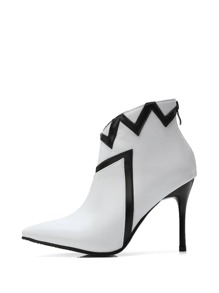 Zip Back Stiletto Heeled Boots