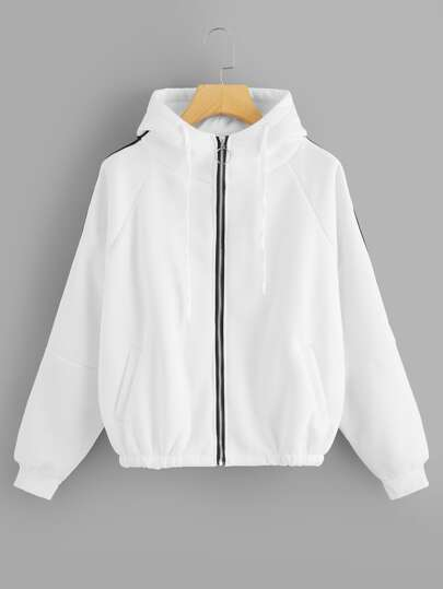 Raglan Sleeve Zip Up Jacket