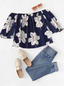 Off Shoulder Floral Top