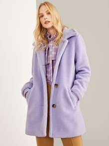 Pocket Front Teddy Coat