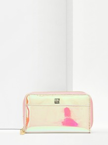 Zipper Around Iridescent Purse