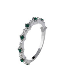 Gemstone Engraved Ring 1pc