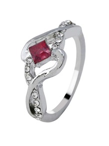 Twist Design Gemstone Ring 1pc