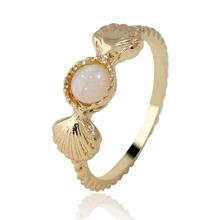 SHEIN   Shell Decorated Gemstone Ring   Goxip