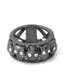 skeleton Decorated Hollow Wide Ring