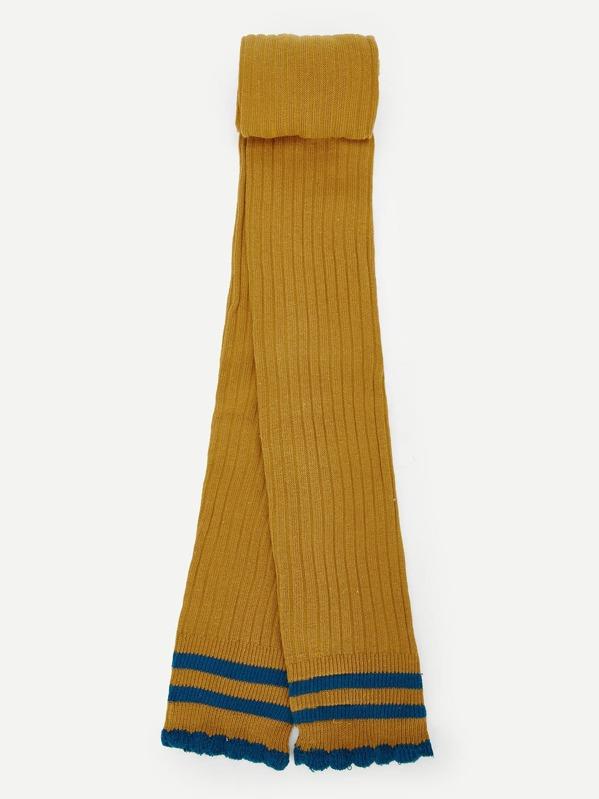 b4316f5925ef7 Girls Striped Trim Footless Tights | SHEIN UK