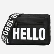 Letter Print Crossbody Bag