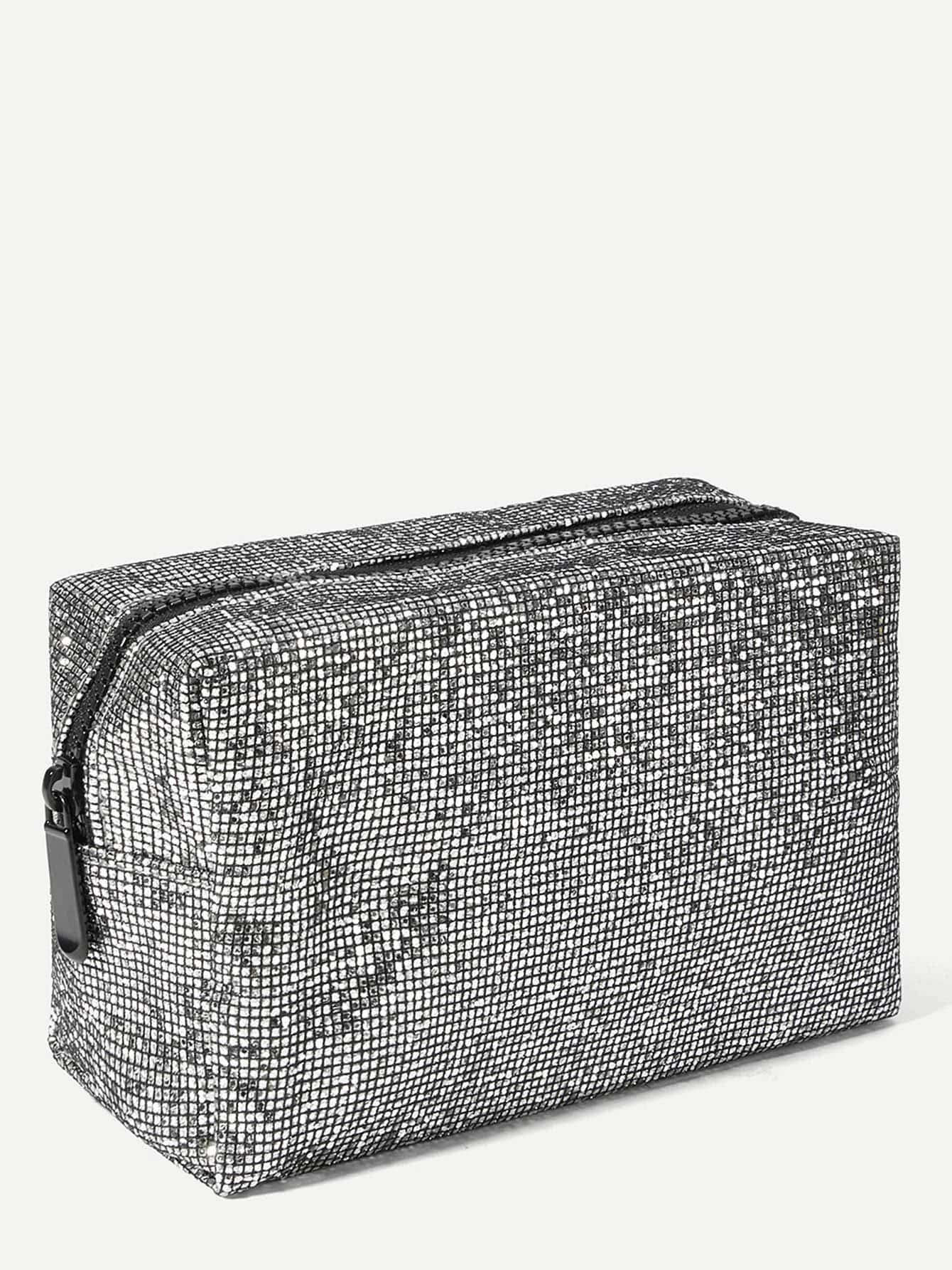 Glitter Makeup Bag | ROMWE