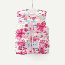 Toddler Girls Pocket Detail Floral Print Outerwear