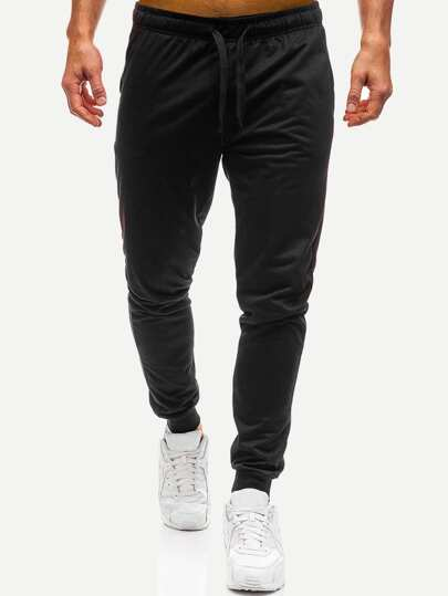 Guys Drawstring Waist Solid Joggers