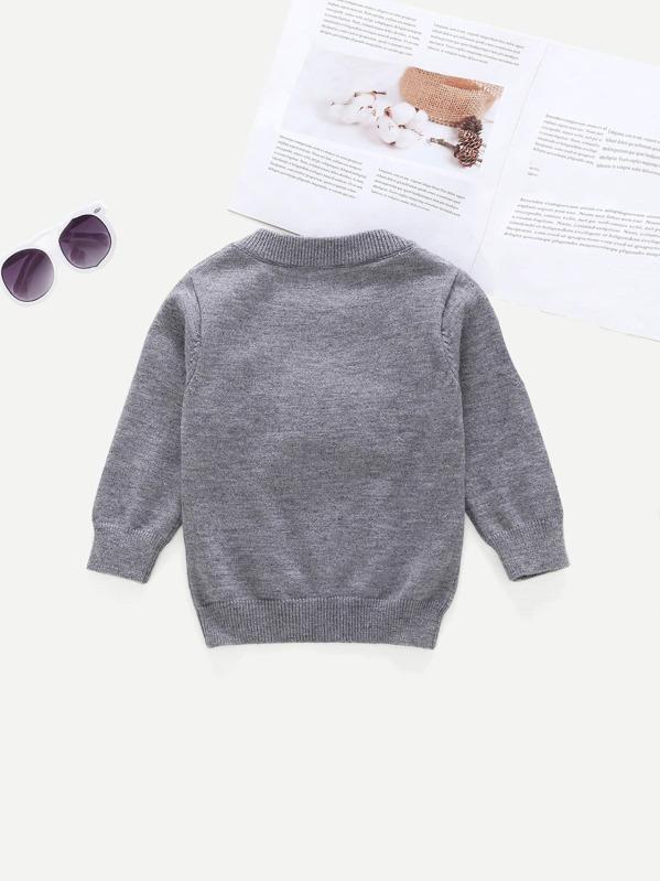 4d7a4ff9b Toddler Girls Pom Pom Detail Letter Print Sweater
