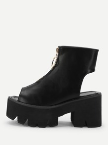 Open Back Platform Chunky Boots